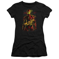 Justice League Movie Juniors Shirt The Flash Black T-Shirt