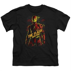 Justice League Movie Kids Shirt The Flash Black T-Shirt