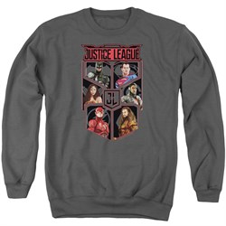 Image of Justice League Movie League of Six Adult Charcoal Sweatshirt
