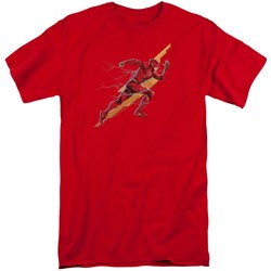 Justice League Movie Shirt Flash Forward Red Tall T-Shirt