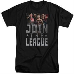 Justice League Movie Shirt Join The League Black Tall T-Shirt
