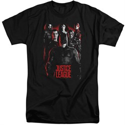 Justice League Movie Shirt The League Red Glow Black Tall T-Shirt