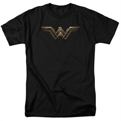 Justice League Movie Shirt Wonder Woman Logo Black T-Shirt