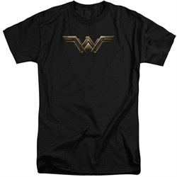 Justice League Movie Shirt Wonder Woman Logo Black Tall T-Shirt