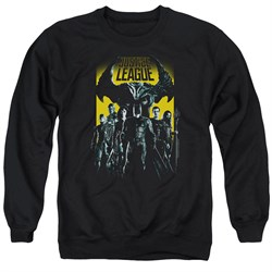 Image of Justice League Movie Stand Up To Evil Adult Black Sweatshirt