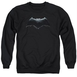 Image of Justice League Movie Sweatshirt Batman Logo Adult Black Sweat Shirt