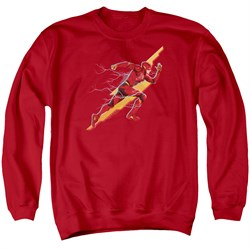 Justice League Movie Sweatshirt Flash Forward Adult Red Sweat Shirt