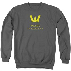 Image of Justice League Movie Sweatshirt Wayne Aerospace Charcoal Sweat Shirt