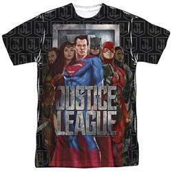Image of Justice League Movie The League Sublimation Shirt Front/Back Print