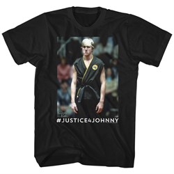 Karate Kid Shirt Justice4Johnny Black T-Shirt