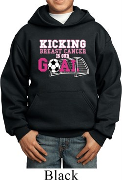 Image of Kicking Breast Cancer is Our Goal Kids Hoody