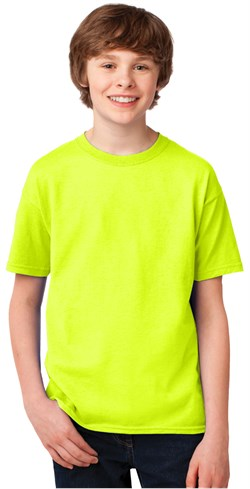 Image of Kids High Visibility Performance Biking Shirt - Safety Green