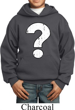 Image of Kids Distressed Question Hoody