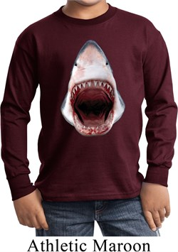 Kids Shark Shirt 3D Shark Long Sleeve Tee T-Shirt