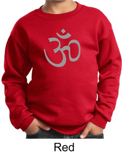 Image of Kids Yoga Sweatshirt Aum Symbol Meditation Youth Sweat Shirt