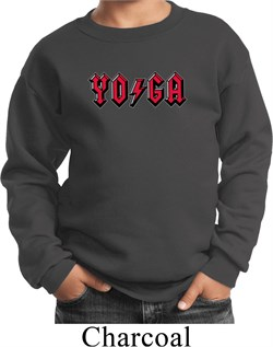 Image of Kids Yoga Sweatshirt Classic Rock Yoga Sweat Shirt