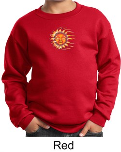 Image of Kids Yoga Sweatshirt Sleeping Sun Meditation Youth Sweat Shirt