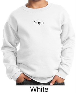 Image of Kids Yoga Sweatshirt Yoga Logo Meditation Youth Sweat Shirt