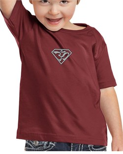 Image of Kids Yoga T-shirt Super OM Small Print Toddler Tee