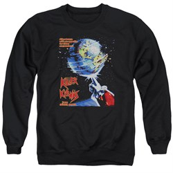 Image of Killer Klowns From Outer Space Sweatshirt Invaders Adult Black Sweat Shirt