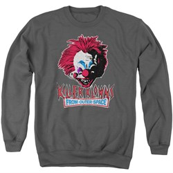 Killer Klowns From Outer Space Sweatshirt Rough Clown Adult Charcoal Sweat Shirt