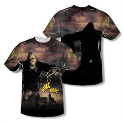Image of King Kong Kong In The City Sublimation Kids Shirt Front/Back Print