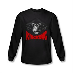 Image of King Kong Shirt Kong Face Long Sleeve Black Tee T-Shirt