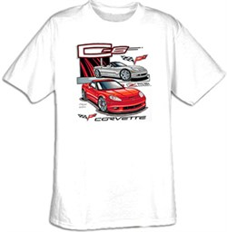 Image of Chevy Corvette Kids T-Shirt - C6 Youth White Tee