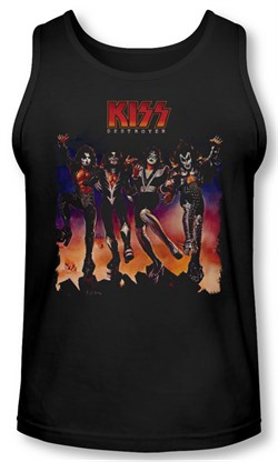 Image of Kiss Rock Band Tank Top Destroyer Cover Black Tanktop