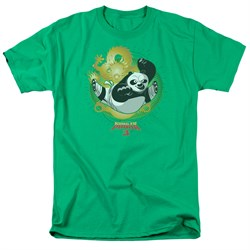 Kung Fu Panda 3 Shirt Drago Po Kelly Green T-Shirt