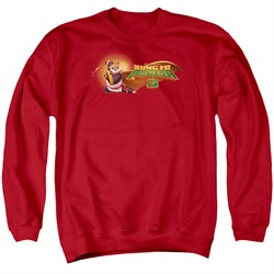 Image of Kung Fu Panda 3 Sweatshirt Po Logo Adult Red Sweat Shirt
