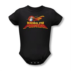 Kung Fu Panda Baby Logo Black Infant Babies Creeper