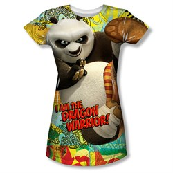 Kung Fu Panda Dragon Warrior Sublimation Juniors Shirt