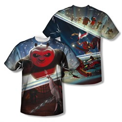 Kung Fu Panda Epic Jumping Sublimation Kids Shirt Front/Back Print