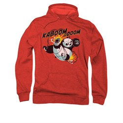 Kung Fu Panda Hoodie Sweatshirt Kaboom Of Doom Red Adult Hoody Sweat Shirt