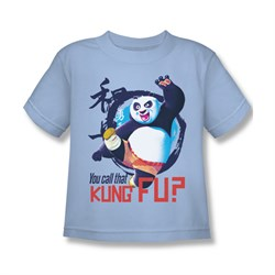 Image of Kung Fu Panda Shirt Kids Kung Fu Light Blue Youth Tee T-Shirt
