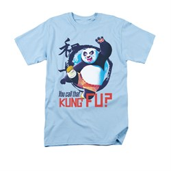 Kung Fu Panda Shirt Kung Fu Adult Light Blue Tee T-Shirt