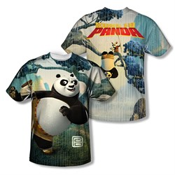 Image of Kung Fu Panda Training Sublimation Kids Shirt Front/Back Print