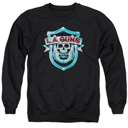 Image of L.A. Guns Sweatshirt Shield Adult Black Sweat Shirt