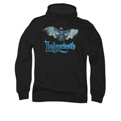 Image of Labyrinth Hoodie Sweatshirt Title Sequence Black Adult Hoody Sweat Shirt