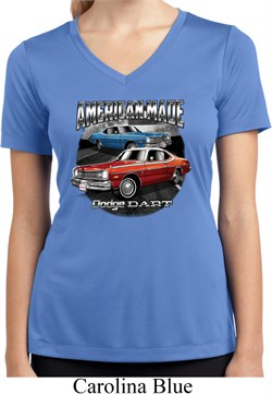 Image of Ladies American Made Dodge Dart Moisture Wicking V-neck Shirt