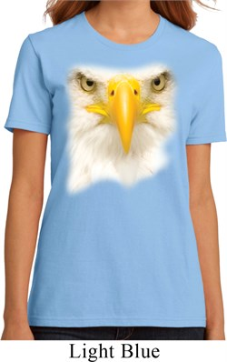 Ladies Bald Eagle Shirt Big Bald Eagle Face Organic T-Shirt