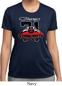 Image of Ladies Dodge 1971 Charger Moisture Wicking Shirt