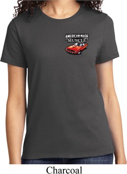 Image of Ladies Dodge American Made Muscle Pocket Print Shirt