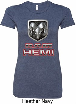 Ladies Dodge Shirt Ram Hemi Logo Longer Length Tee T-Shirt