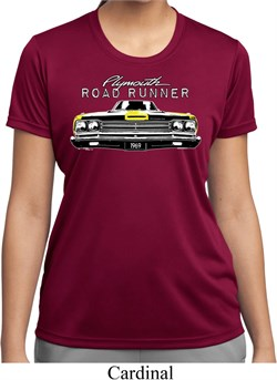 Image of Ladies Dodge Yellow Plymouth Roadrunner Moisture Wicking Shirt
