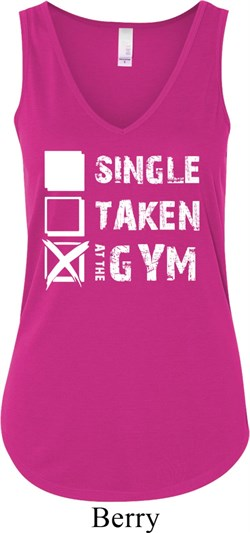 Image of Ladies Fitness Tanktop Single Taken At The Gym Flowy V-neck Tank Top