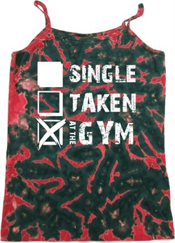 Image of Ladies Fitness Tanktop Single Taken Gym Tie Dye Camisole Tank Top