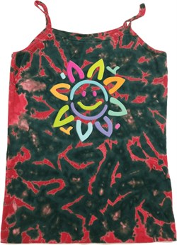 Image of Ladies Flower Tanktop Sunflower Tie Dye Camisole Tank Top