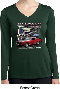 Image of Ladies Ford Classic Mustangs Untamed Dry Wicking Long Sleeve